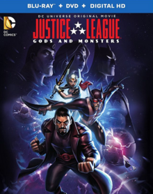 Justice League Gods and Monsters 2015 BLU-RAY DVD Digital HD Cover