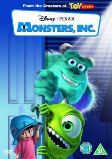 Monsters, Inc. 2001 DVD Cover