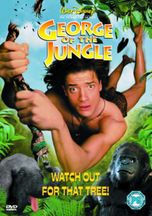 Disney's George of the Jungle 1997 DVD Cover