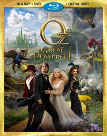 Disney Oz the Great and Powerful 2013 BLU-RAY + DVD + DIGITAL COPY Cover