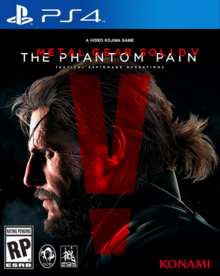 Metal Gear Solid V The Phantom Pain 2015 Game Cover