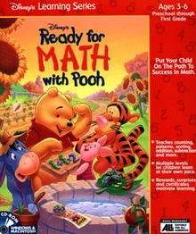 Disney's Ready for Math with Pooh 1997 Game Cover