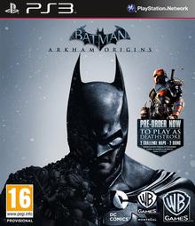 Batman Arkham Origins 2013 Game Cover