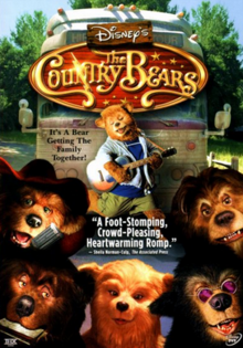 Disney's The Country Bears 2002 DVD Cover