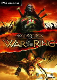 The Lord of the Rings War of the Ring 2003 Game Cover