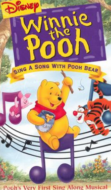 Disney Winnie the Pooh Sing a Song with Pooh Bear 1999 VHS Cover