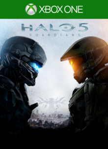 Halo 5 Guardians 2015 Game Cover