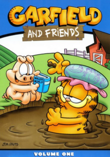 Garfield and Friends 1988 DVD Cover