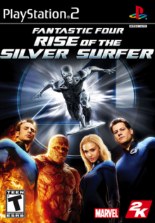 Fantastic Four Rise of the Silver Surfer 2007 Game Cover