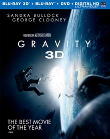 Gravity 2013 Blu-ray DVD Cover