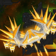 Megablaze in the mobile version of the game (notice that the Fire Guards are turrets instead of drones).