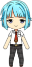 Hajime Shino Summer Uniform chibi