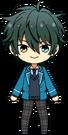 Mika Kagehira student uniform chibi