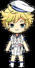 Sora Harukawa Blue Filament chibi