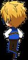Makoto Yuuki ES Trickstar Practice chibi back