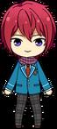 Tsukasa Suou Student Uniform Winter Scarf Outfit chibi