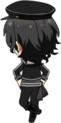 Rei Sakuma UNDEAD Uniform chibi back
