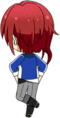 Natsume Sakasaki Academy Idol Uniform chibi back