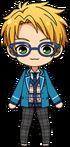 Makoto Yuuki student uniform chibi