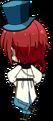 Natsume Sakasaki Wonder Game chibi back