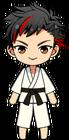 Tetora Nagumo Karate (Black Belt) chibi