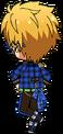 Makoto Yuuki ES Trickstar Uniform chibi back