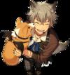 (Halloween Wolf) Koga Oogami Full Render Bloomed
