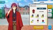 Ibara Saegusa Kimono (Red Team) Outfit