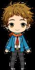 Mitsuru Tenma Student Uniform Winter Scarf Outfit chibi