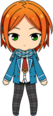 Yuta Aoi Student Uniform (Winter + Scarf) chibi