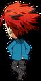 Kuro Kiryu Student Uniform (Winter) chibi back