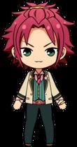 Mao Isara Sakura Fes uniform chibi