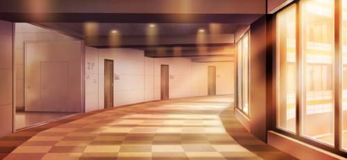 Seisou Hall 2nd Floor Passage (Evening) Full