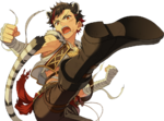 (Leaping White Tiger) Tetora Nagumo Full Render Bloomed