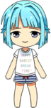 Hajime Shino Room Wear chibi