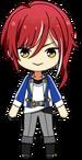 Natsume Sakasaki Academy Idol Uniform chibi