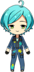 Kanata Shinkai Colorful Overalls chibi