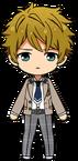 Midori Takamine School Uniform From Somewhere chibi