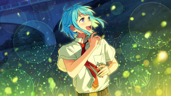 (Fireflies and Summer Night) Hajime Shino CG