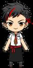 Tetora Nagumo Apron Uniform chibi