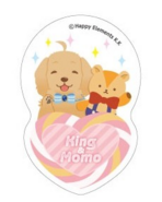 King and Momo Acrylic Badge