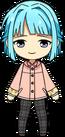 Hajime Shino Raincoat chibi