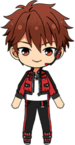 Chiaki Morisawa Patrol Hero Outfit chibi