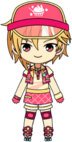 Nazuna Nito Ice Cream Shop chibi