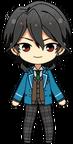 Rei Sakuma student uniform chibi