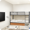 Reimei Academy Dorms (Hiyori and Jun's Personal Room)