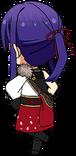 Souma Kanzaki AKATSUKI Uniform chibi back