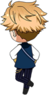 Arashi Narukami Knights Chibi Back