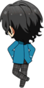 Rei Sakuma Student Uniform chibi back