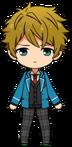 Midori Takamine student uniform chibi